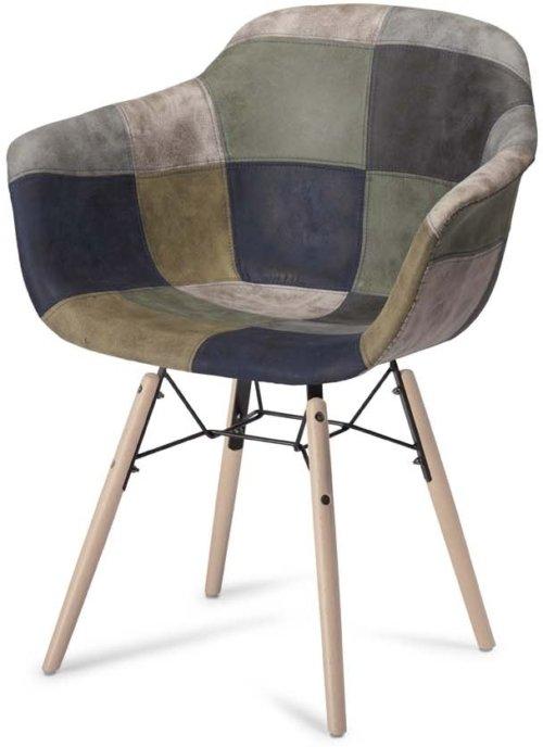 På billedet ser du et stemningsbillede (#5) fra Kingston, Spisebordsstol, U-sæde fra brandet Raymond & Hallmark i en størrelse H: 80 cm. B: 59 cm. i farven Blå/Grå
