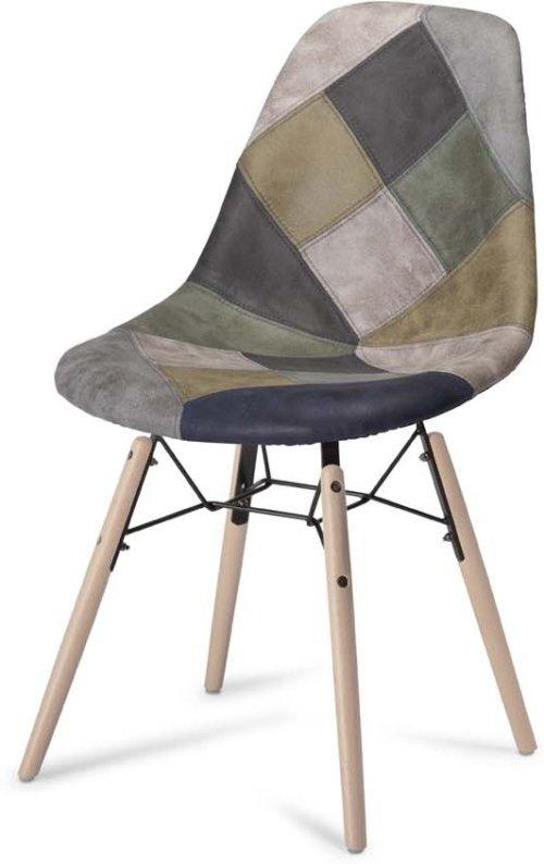 På billedet ser du et stemningsbillede (#5) fra Kingston, Spisebordsstol fra brandet Raymond & Hallmark i en størrelse H: 84 cm. B: 47 cm. i farven Blå/Grå