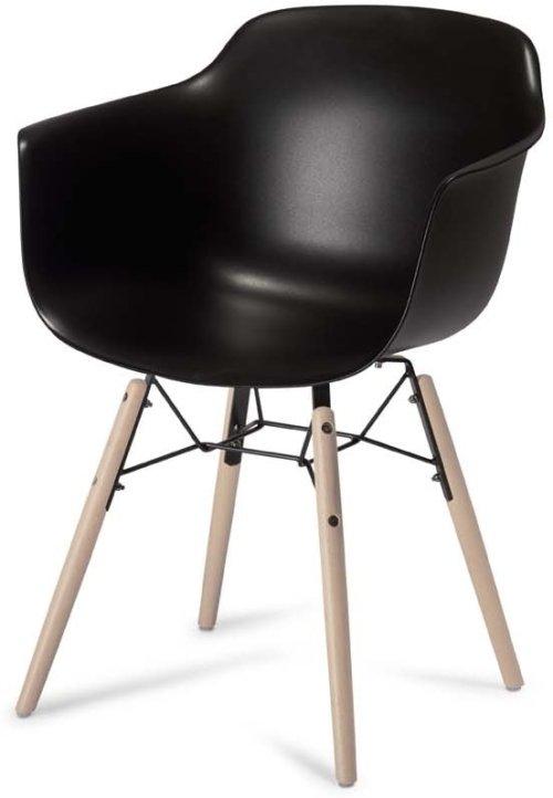 På billedet ser du et stemningsbillede (#5) fra Keiss, Spisebordsstol fra brandet Raymond & Hallmark i en størrelse H: 97 cm. B: 57 cm. i farven Sort