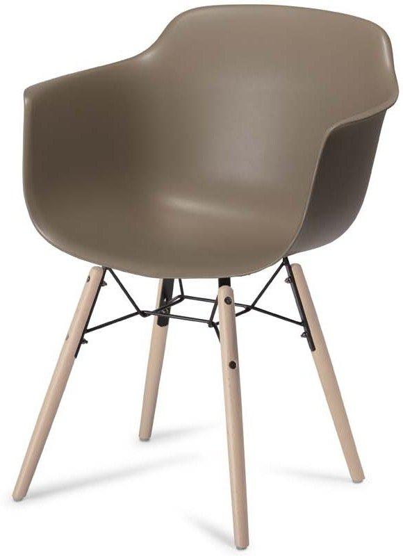 Keiss, Spisebordsstol med armlæn by Raymond & Hallmark (H: 97 cm. B: 57 cm. L: 53 cm., Grå)