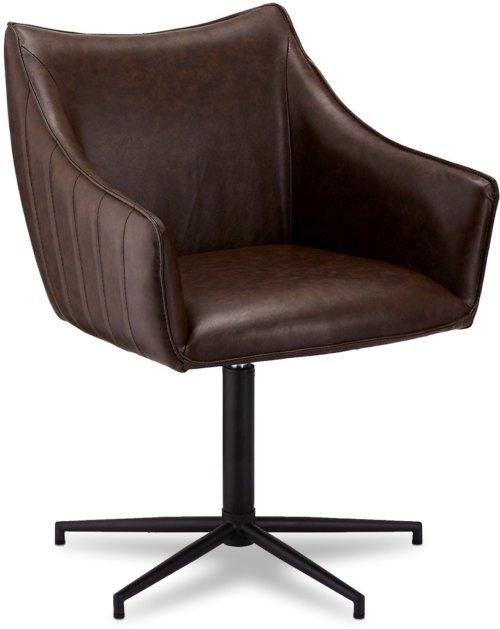 På billedet ser du variationen Townfield, Spisebordsstol, PU læder fra brandet Raymond & Hallmark i en størrelse H: 84 cm. B: 60 cm. i farven Mørkebrun