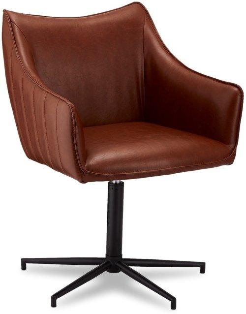 På billedet ser du variationen Townfield, Spisebordsstol, PU læder fra brandet Raymond & Hallmark i en størrelse H: 84 cm. B: 60 cm. i farven Lysebrun