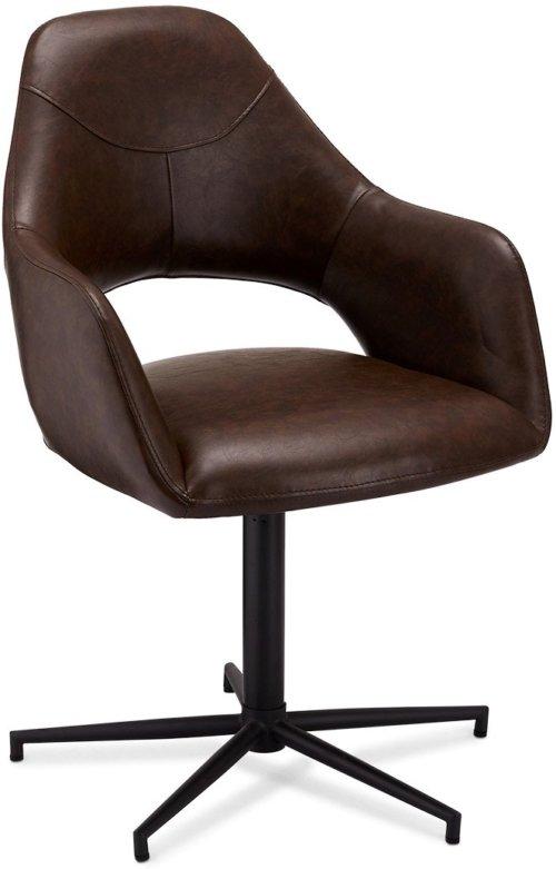 På billedet ser du variationen Pinmore, Spisebordsstol, PU læder fra brandet Raymond & Hallmark i en størrelse H: 89 cm. B: 59 cm. i farven Mørkebrun