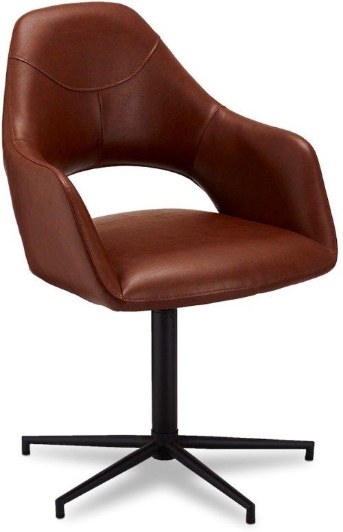 På billedet ser du variationen Pinmore, Spisebordsstol, PU læder fra brandet Raymond & Hallmark i en størrelse H: 89 cm. B: 59 cm. i farven Lysebrun