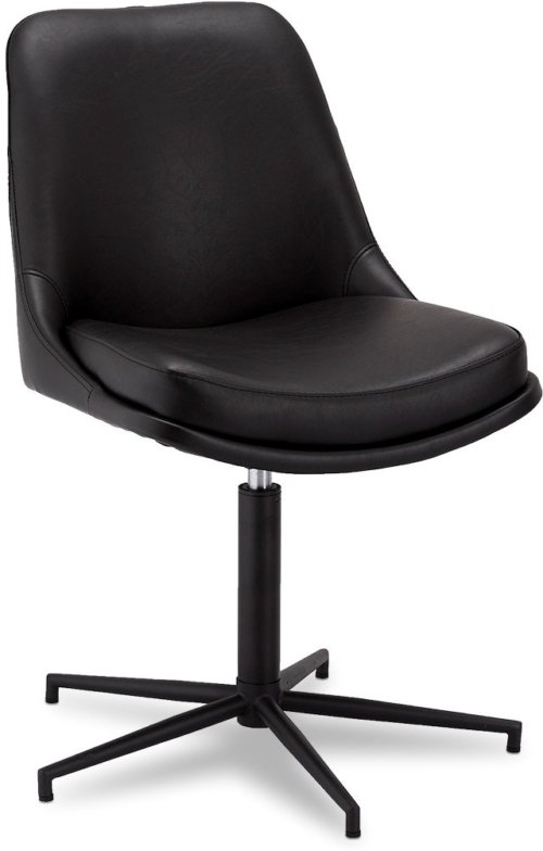 På billedet ser du et stemningsbillede (#8) fra Limerigg, Spisebordsstol, PU læder fra brandet Raymond & Hallmark i en størrelse H: 89 cm. B: 59 cm. i farven Sort