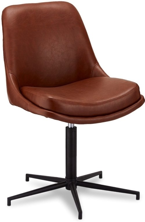 På billedet ser du variationen Limerigg, Spisebordsstol, PU læder fra brandet Raymond & Hallmark i en størrelse H: 89 cm. B: 59 cm. i farven Lysebrun
