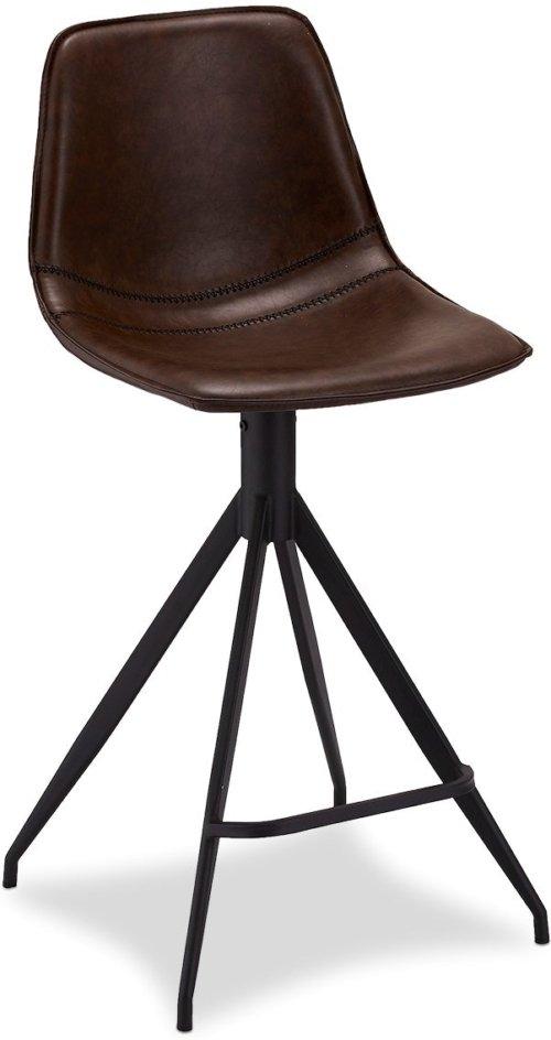 På billedet ser du variationen Kirkcolm, Barstol, PU læder fra brandet Raymond & Hallmark i en størrelse H: 98 cm. B: 48 cm. i farven Mørkebrun