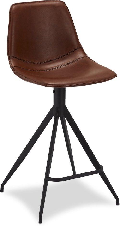 På billedet ser du variationen Kirkcolm, Barstol, PU læder fra brandet Raymond & Hallmark i en størrelse H: 98 cm. B: 48 cm. i farven Lysebrun
