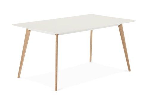 På billedet ser du et stemningsbillede (#5) fra Lane, Spisebord, Firkantet fra brandet Raymond & Hallmark i en størrelse H: 75 cm. B: 90 cm. L: 160 cm. i farven Hvid