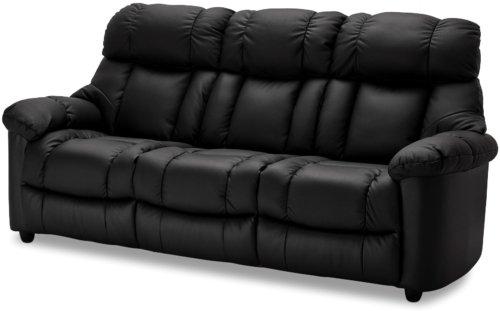 På billedet ser du et stemningsbillede (#8) fra Falkirk, 3 personers sofa, Læder fra brandet Raymond & Hallmark i en størrelse H: 103 cm. B: 214 cm. i farven Sort