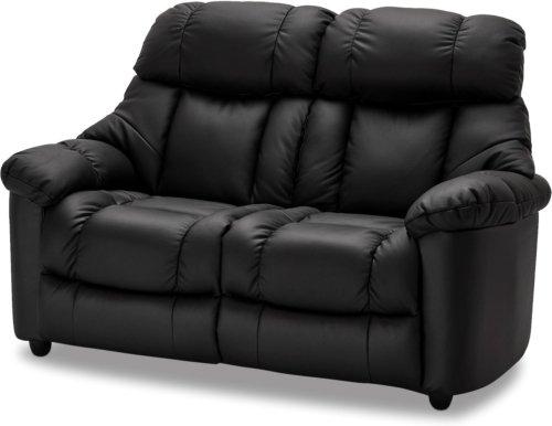 På billedet ser du et stemningsbillede (#8) fra Falkirk, 2 personers sofa, Læder fra brandet Raymond & Hallmark i en størrelse H: 103 cm. B: 161 cm. i farven Sort