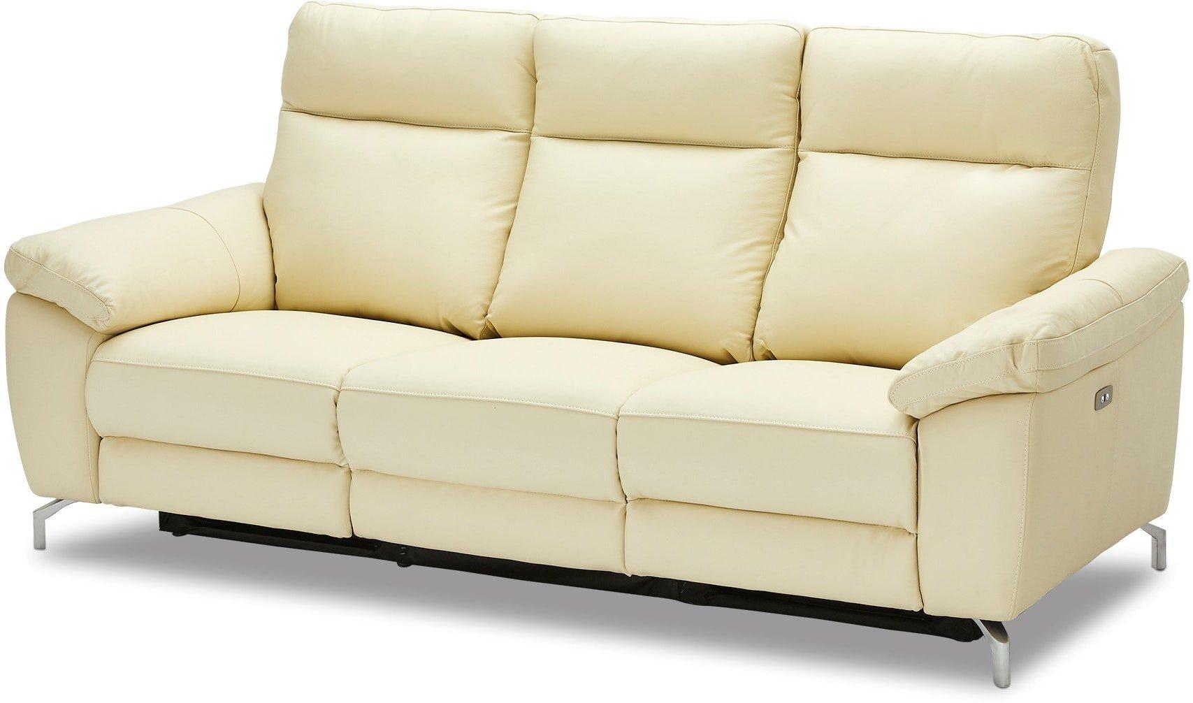St. Amble, 2-personers sofa, Ægte læder by Raymond & Hallmark (H: 101 cm. B: 222 cm. L: 96 cm., Cream)