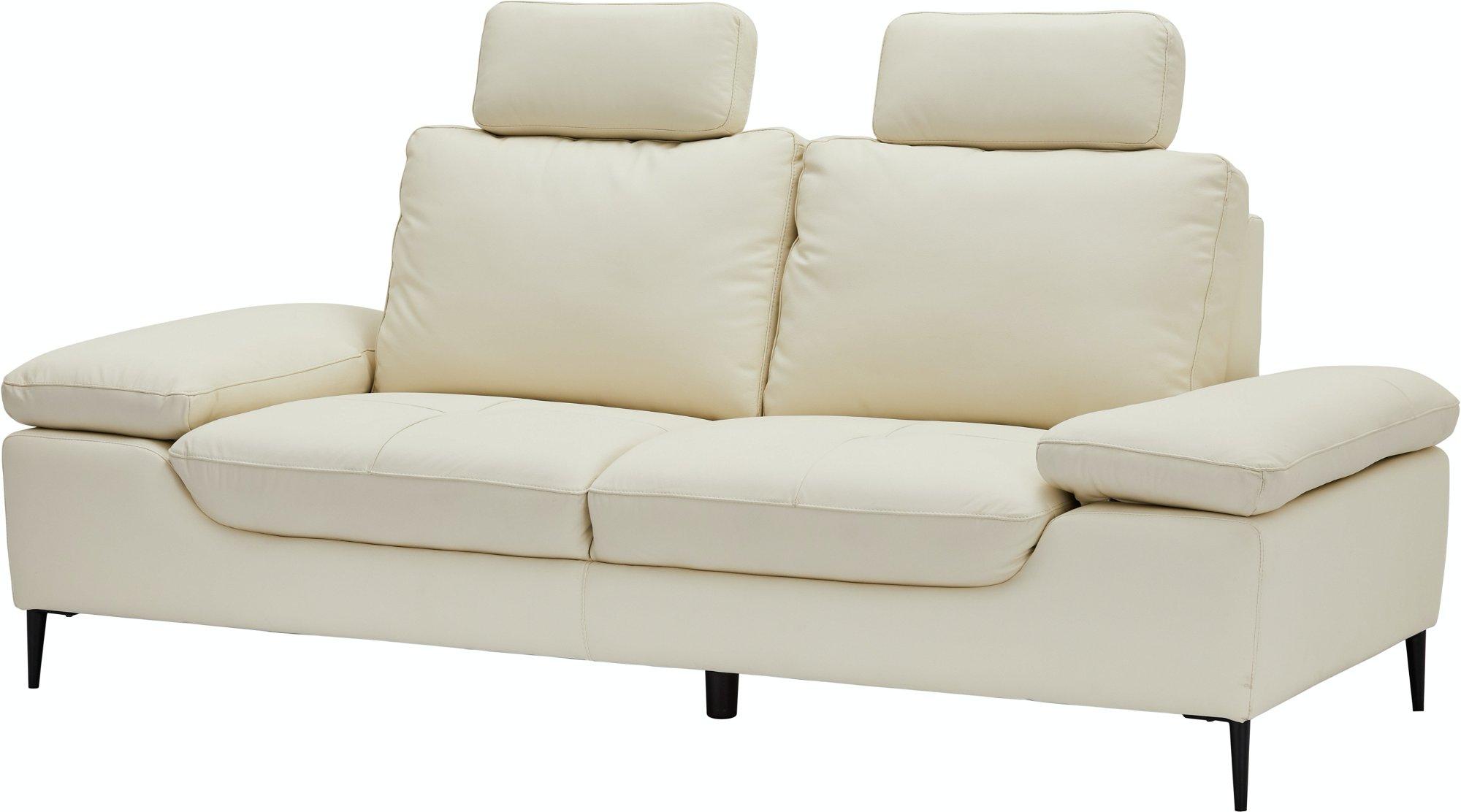 St. Annes, 2-personers sofa, Ægte læder by Raymond & Hallmark (H: 105 cm. B: 217 cm. L: 92 cm., Fløde)