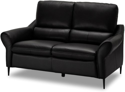 På billedet ser du et stemningsbillede (#8) fra Leadhills, 2 personers sofa, Læder fra brandet Raymond & Hallmark i en størrelse H: 98 cm. B: 160 cm. i farven Sort