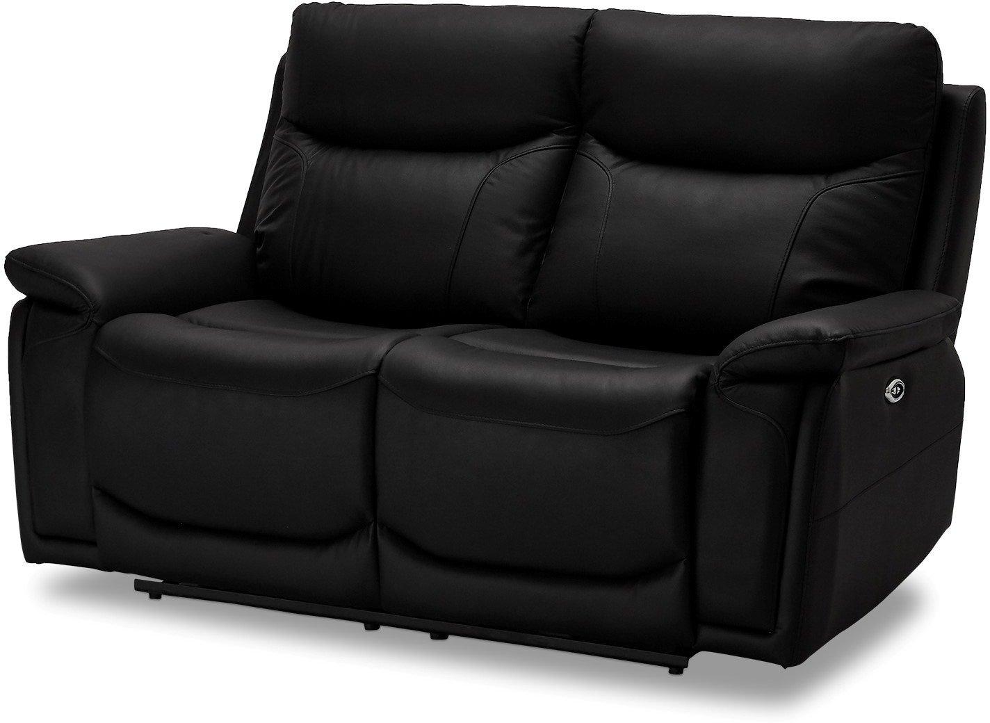 Stirling, 2-personers sofa, Ægte læder by Raymond & Hallmark (H: 100 cm. B: 166 cm. L: 99 cm., Sort)