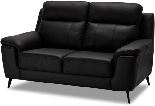 På billedet ser du et stemningsbillede (#8) fra Bladnoch, 2 personers sofa, Læder fra brandet Raymond & Hallmark i en størrelse H: 97 cm. B: 168 cm. i farven Sort
