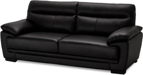 På billedet ser du et stemningsbillede (#8) fra Welbury, 3 personers sofa, Læder fra brandet Raymond & Hallmark i en størrelse H: 90 cm. B: 216 cm. i farven Sort