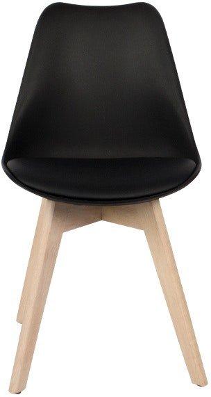 På billedet ser du variationen Mia, Spisebordsstol, Kunstlæder, Egetræ fra brandet House of Sander i en størrelse H: 84 cm. B: 47 cm. L: 49 cm. i farven Sort/Natur
