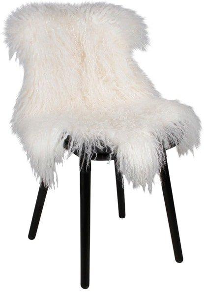På billedet ser du variationen Tibetansk, Sædeskind, Læder fra brandet House of Sander i en størrelse B: 65 cm. L: 100 cm. i farven Hvid
