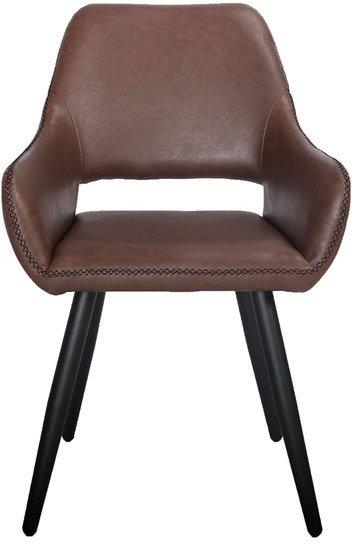 På billedet ser du variationen Frida, Spisebordsstol, PU læder fra brandet House of Sander i en størrelse H: 86 cm. B: 59 cm. L: 44 cm. i farven Brun