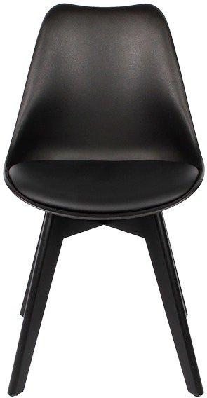 På billedet ser du variationen Mia, Spisebordsstol, Kunstlæder, Egetræ fra brandet House of Sander i en størrelse H: 84 cm. B: 47 cm. L: 49 cm. i farven Sort