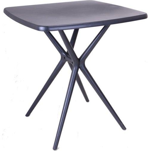 På billedet ser du variationen Uni, Terassebord, Plastik fra brandet House of Sander i en størrelse B: 72 cm. L: 72 cm. i farven Sort