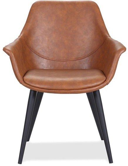 På billedet ser du variationen Signe, Spisebordsstol, Kunstlæder fra brandet House of Sander i en størrelse H: 82 cm. B: 68 cm. L: 62 cm. i farven Cognac