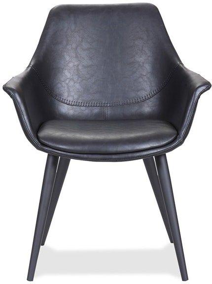 På billedet ser du variationen Signe, Spisebordsstol, Kunstlæder fra brandet House of Sander i en størrelse H: 82 cm. B: 68 cm. L: 62 cm. i farven Sort