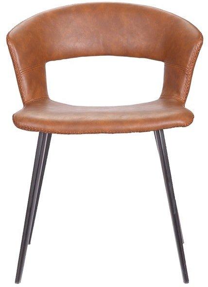 På billedet ser du variationen Tora, Spisebordsstol, Kunstlæder fra brandet House of Sander i en størrelse H: 77 cm. B: 62 cm. L: 58 cm. i farven Cognac