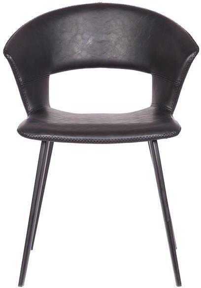 På billedet ser du variationen Tora, Spisebordsstol, Kunstlæder fra brandet House of Sander i en størrelse H: 77 cm. B: 62 cm. L: 58 cm. i farven Sort