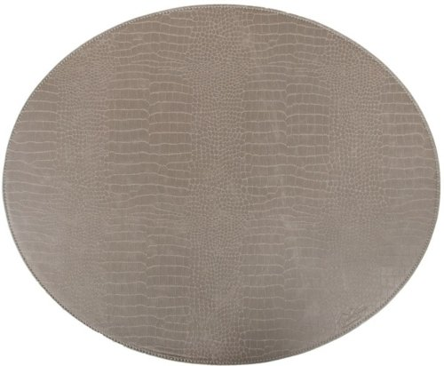 På billedet ser du variationen Sander, Rund dækkeserviet, Kunstlæder fra brandet House of Sander i en størrelse B: 36,5 cm. L: 44,5 cm. i farven Grå
