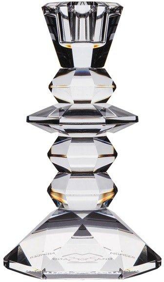 På billedet ser du variationen Viola, Lysestage, Glas fra brandet House of Sander i en størrelse H: 13 cm. B: 7 cm. L: 7 cm. i farven Hvid