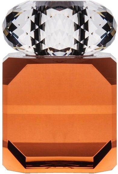 På billedet ser du variationen Daisy, Lysestage til kronelys, Glas fra brandet House of Sander i en størrelse H: 10 cm. B: 6 cm. L: 6 cm. i farven Orange