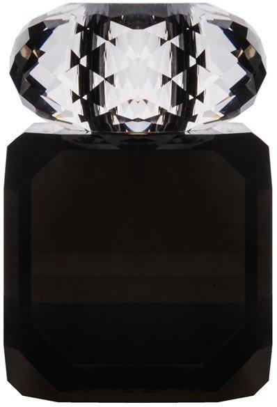 På billedet ser du variationen Daisy, Lysestage til kronelys, Glas fra brandet House of Sander i en størrelse H: 10 cm. B: 6 cm. L: 6 cm. i farven Sort