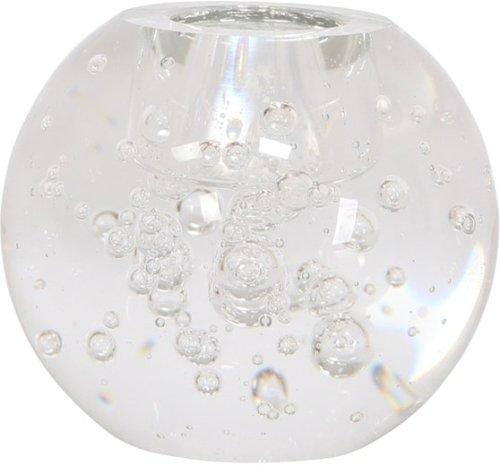 På billedet ser du variationen Kamilla, Lysestage, Glas fra brandet House of Sander i en størrelse H: 8 cm. B: 8 cm. L: 8 cm. i farven Hvid