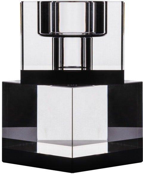 På billedet ser du variationen Lyng, Lysestage, Glas fra brandet House of Sander i en størrelse H: 10 cm. B: 6 cm. L: 6 cm. i farven Sort