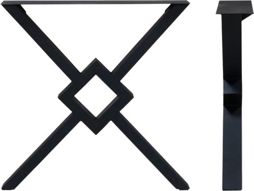 På billedet ser du variationen Spider, Bordben til plankebord, Stål fra brandet House of Sander i en størrelse H: 70,5 cm. B: 70,5 cm. i farven Sort