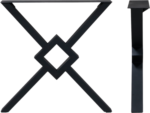 På billedet ser du Spider, Bordben til plankebord, Stål fra brandet House of Sander i en størrelse H: 70,5 cm. B: 70,5 cm. i farven Sort
