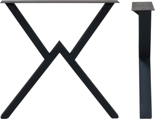 På billedet ser du variationen Goja, Bordben til plankeborde, Stål fra brandet House of Sander i en størrelse H: 15 cm. B: 71 cm. L: 71 cm. i farven Sort
