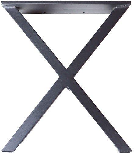 På billedet ser du variationen XS, Bordben til bænk, X-Stel fra brandet House of Sander i en størrelse H: 42 cm. B: 36 cm. L: 6 cm. i farven Sort