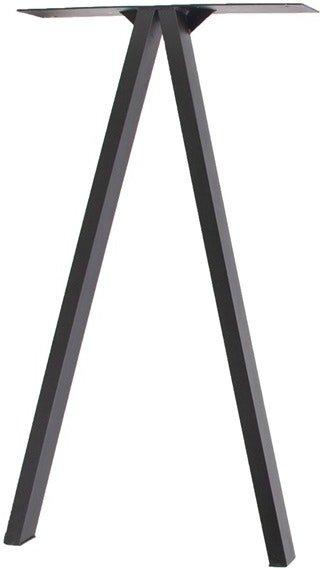 På billedet ser du variationen V, Bordben til plankebord, Til højt bord fra brandet House of Sander i en størrelse H: 70,5 cm. B: 65 cm. L: 15 cm. i farven Sort