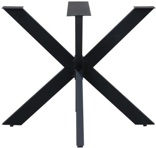 På billedet ser du variationen Opus, Bordben til plankebord, Stjernestel fra brandet House of Sander i en størrelse H: 71 cm. B: 90 cm. L: 90 cm. i farven Sort
