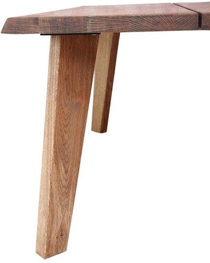 På billedet ser du Frigg, Bordben til sofabord, Egetræ fra brandet House of Sander i en størrelse H: 45 cm. B: 4,4 cm. L: 5,7 cm. i farven Mørk