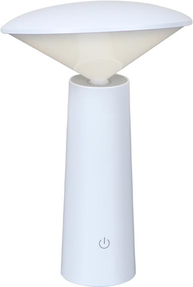 På billedet ser du variationen Twist, LED Lampe til udendørsbrug m. touchfunktion fra brandet House of Sander i en størrelse H: 21 cm. B: 14 cm. i farven Hvid