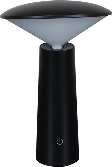 På billedet ser du variationen Twist, LED Lampe til udendørsbrug m. touchfunktion fra brandet House of Sander i en størrelse H: 21 cm. B: 14 cm. i farven Sort