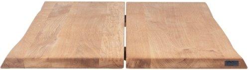 På billedet ser du variationen Hugin, Bordplade til plankebord, Egetræ fra brandet House of Sander i en størrelse H: 4 cm. B: 200 cm. L: 103 cm. i farven Natur