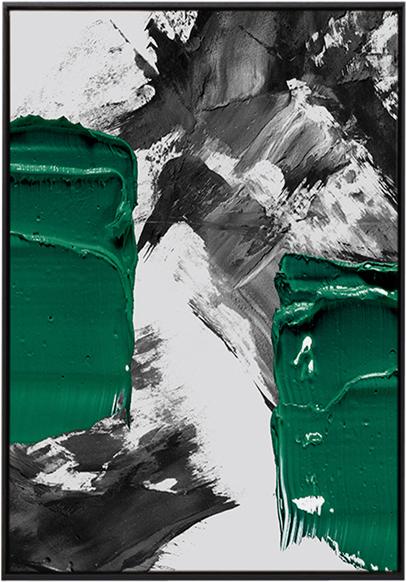 På billedet ser du Green Paint, Illustration m. ramme fra brandet House of Sander i en størrelse H: 3 cm. B: 70 cm. L: 100 cm. i farven Multifarvet