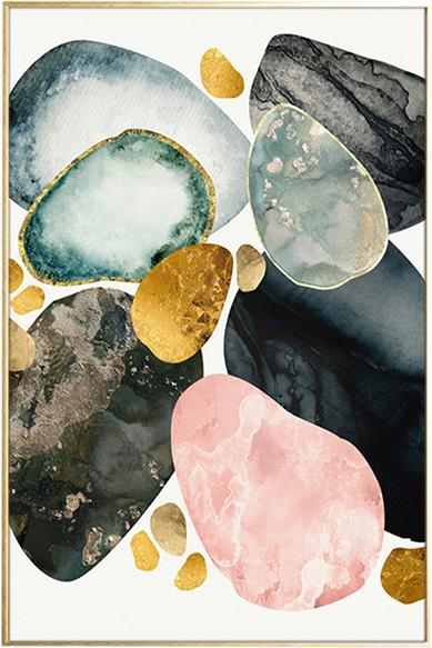 På billedet ser du Colors, Illustration m. ramme fra brandet House of Sander i en størrelse H: 3 cm. B: 60 cm. L: 90 cm. i farven Multifarvet