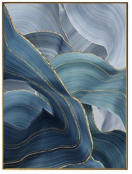 På billedet ser du Blue Art, Illustration m. ramme fra brandet House of Sander i en størrelse H: 3 cm. B: 50 cm. L: 70 cm. i farven Multifarvet