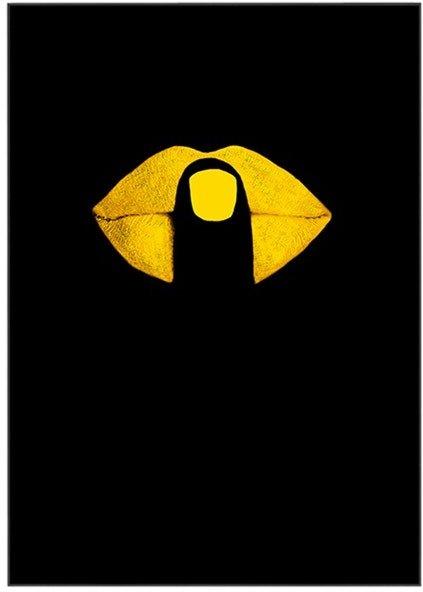 På billedet ser du variationen Yellow Mouth Art , Illustration m. ramme fra brandet House of Sander i en størrelse H: 3 cm. B: 70 cm. L: 100 cm. i farven Multifarvet